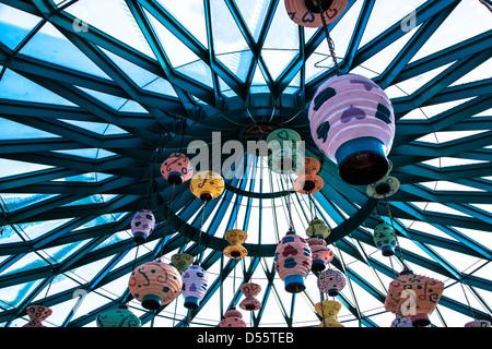 Mad Hatters Tea Cup Ride, Disneyland Paris - Stock Photo