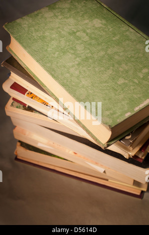 A stack of old books - Stock Photo