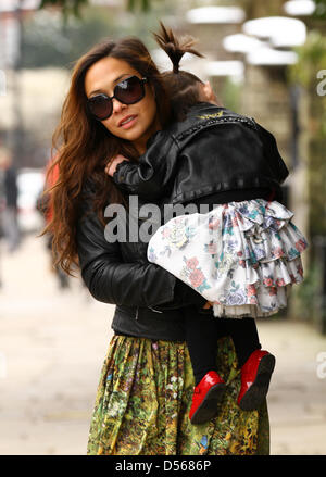 London, UK. 26th March 2013. Myleene Klass seen out and about in Highgate, North London.Credit: WFPA / Alamy Live - Stock Photo