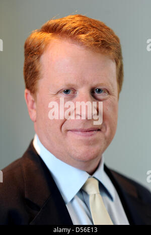 Chairman of the pay-TV broadcaster sky Germany Brian Sullivan is pictured at the head office of skye Germany in - Stock Photo