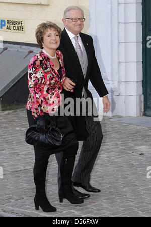 Dutch Princess Margriet and her husband Pieter van Vollenhoven attend the church wedding of Annemarie Gualthérie - Stock Photo