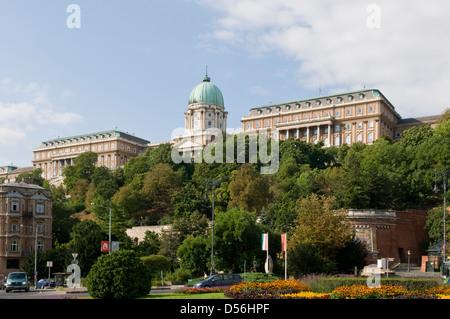 Buda Palace and Castle, Buda, Hungary - Stock Photo