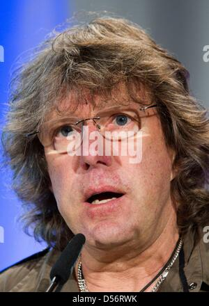 English keyboard player Keith Emerson receives the Frankfurt Music Prize 2010 in Frankfurt Main, Germany, 23 March - Stock Photo