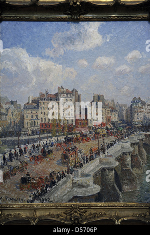 Camille Pissarro (1830-1903). French painter. The Pont-Neuf (1902). Museum of Fine Arts. Budapest. Hungary. - Stock Photo