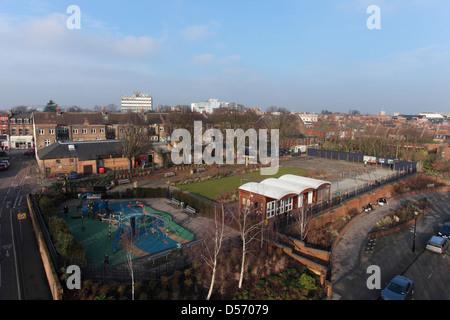 Twickenham Diamond Jubilee Gardens Opened On The Site Of The Old Lido Stock Photo 54858538 Alamy