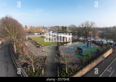 Twickenham Diamond Jubilee Gardens opened on the site of the old lido in June 2012 - Stock Photo