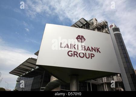 Nicosia, Cyprus. 26th March 2013. Laiki Bank, 154 Limossol Avenue, Nicosia, Cyprus. 26.03.2013 Picture shows the - Stock Photo