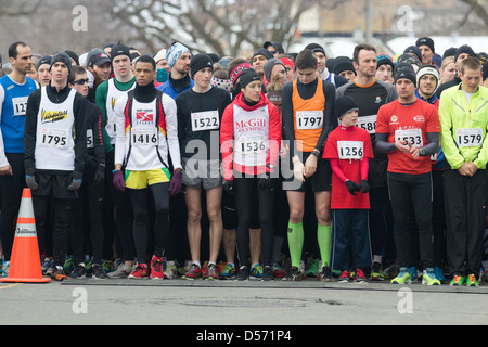 Running race start line - Stock Photo