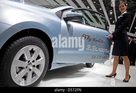 The new Volkswagen Touareg 'Hybrid' with an electric motor pictured at the Auto Mobil International (AMI) car show - Stock Photo