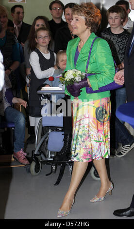 Princess Margriet of the Netherlands opens the regional child service centre 'Het Duinhuis' in Haarlem, Netherlands, - Stock Photo