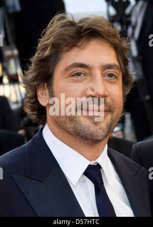 Spanish actor Javier Bardem arrives for the screening of the movie 'Biutiful' at the 63rd Cannes Film Festival in - Stock Photo