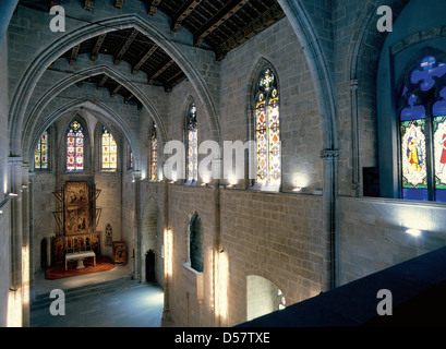 Spain. Barcelona. The Chapel of Santa Agata. Inside. - Stock Photo