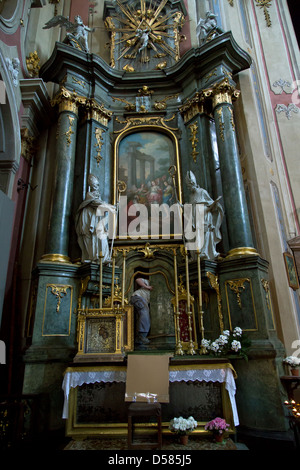 Lviv, Ukraine, maintenance work at the Cathedral of the Assumption - Stock Photo