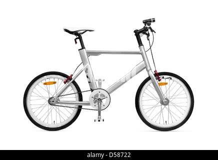 K VELO bycicle Kia Motors bike isolated on white background with clipping path - Stock Photo