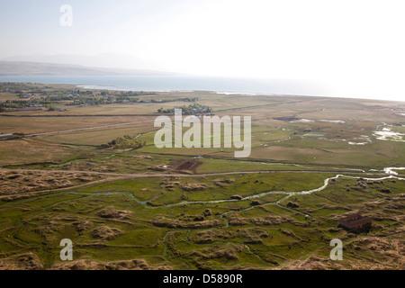view from the castle of van, town of van, lake van, south-eastern anatolia, turkey, asia - Stock Photo