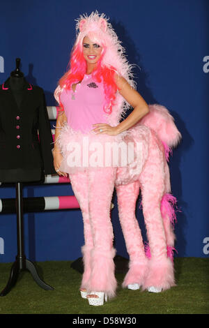 London, UK. 26th March 2013. Katie Price poses at a photocall to mark the fifth birthday of KP Equestrian at The - Stock Photo