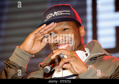 Berlin, Germany. 26th March 2013. US rapper Curtis James Jackson III aka '50 Cent' comes in Berlin to an autograph - Stock Photo