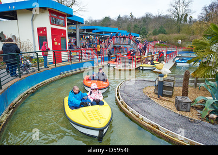 Boating School Legoland Windsor UK - Stock Photo