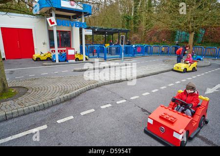 Driving School for under 5 year olds Legoland Windsor UK - Stock Photo