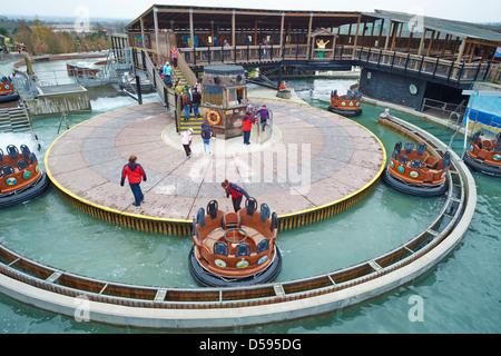 Vikings River Splash within Land of the Vikings Legoland Windsor UK - Stock Photo