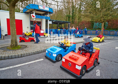 Driving School for under 5 year olds Legoland Windsor UK - Stock Photo