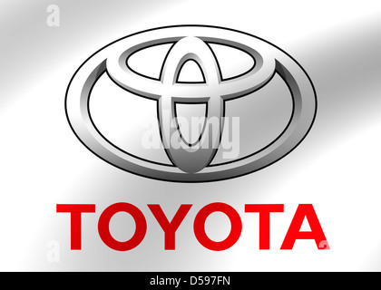 Toyota Logo Symbol Icon Flag Stock Photo 54908320 Alamy