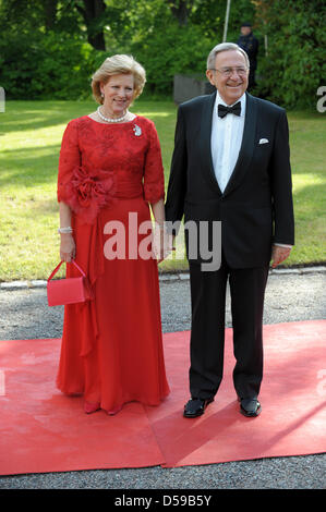 Queen Anne-Marie of Greece and King Konstantin of Greece arrive for the goverment dinner held at the Eric Ericson - Stock Photo