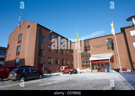 sor-varanger kommune administration building council offices kirkenes finnmark norway europe - Stock Photo