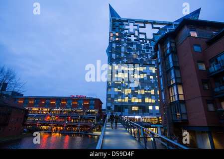 The Mailbox and The Cube in Birmingham city centre, UK - Stock Photo
