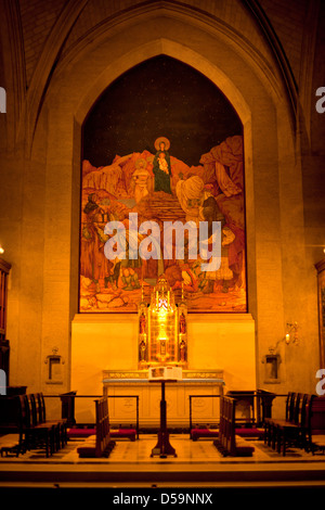 inside Grace Cathedral, San Francisco, California, United States of America, USA - Stock Photo