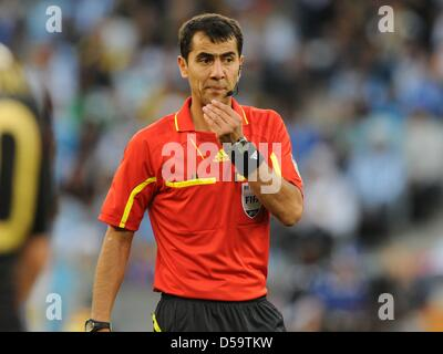 Usbek referee Ravshan Irmatov during the 2010 FIFA World Cup quarterfinal match between Argentina and Germany at - Stock Photo