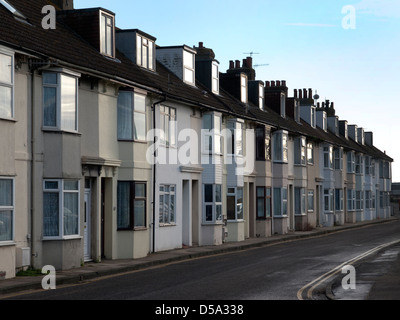 Terraced housing in Newhaven - Stock Photo