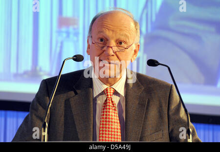 Director General of the European Space Agency (ESA) Jean-Jacques Dordain speaks at a ceremony to celebrate the fifth - Stock Photo