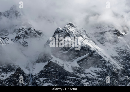 The North Face of Mont Collon Switzerland - Stock Photo