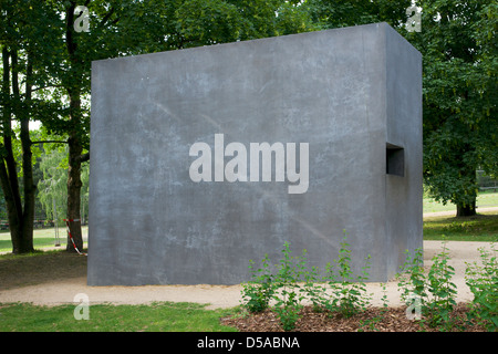 Side view of the Memorial to Homosexuals persecuted under Nazism in Berlin, Germany. - Stock Photo