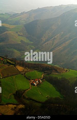 Camino de Santiago de Compostela in the  French Pyrenees - Stock Photo