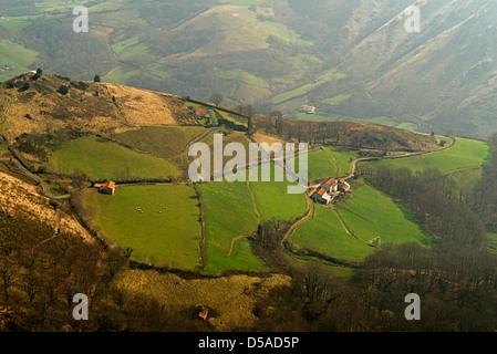 El Camino de Santiago De Compostela in  French Pyrenees - Stock Photo