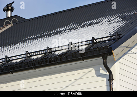 Snow Retention System Guard On Roof In Kirkenes Finnmark Norway Europe    Stock Photo