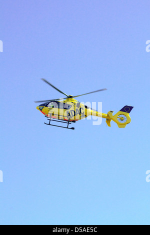 Berlin, Germany, a ADAC rescue helicopter Christoph 31 in flight Stock Photo