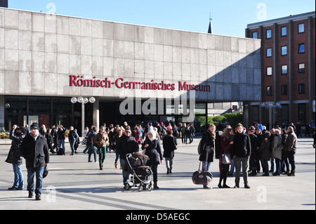 Cologne, Germany, the Roman-Germanic Museum in Cologne - Stock Photo