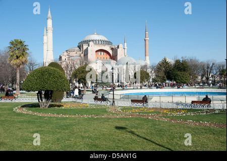 Istanbul, Turkey, the Hagia Sophia mosque in which there is now a museum - Stock Photo