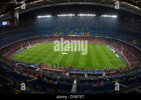 Barcelona, Spain, FC Barcelona vs Real Madrid at the Camp Nou stadium - Stock Photo
