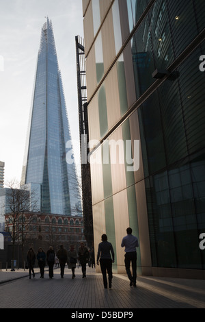 A view of the Shard from More London Place near Tooley Street looking west - Stock Photo