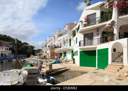 Cala Figuera, Spain, the fishing village of Cala Figuera in Mallorca - Stock Photo