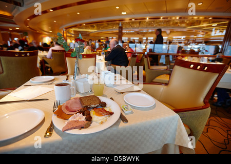 Buffet breakfast plate in restaurant aboard cruise ship ferry buffet breakfast plate in restaurant aboard cruise ship ferry norway europe stock photo sciox Choice Image