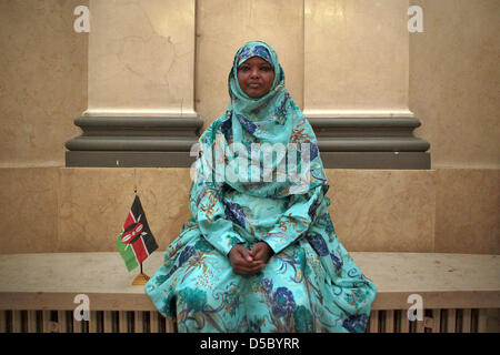 Kenyan peace activist Dekha Ibrahim Abdi pictured in Wiesbaden, Germany, 21 January 2010. The Hessian Peace Prize - Stock Photo