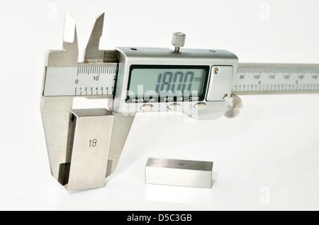 caliper calibration - Stock Photo