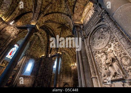 Interior of the Cathedral, Avila, Castile and León, Spain - Stock Photo