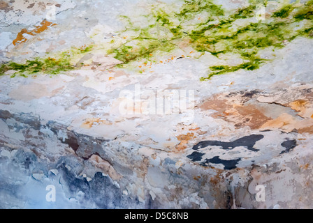 Cracked wall as background texture - Stock Photo