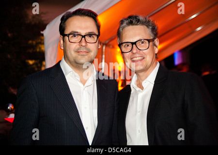Arnim Jochum (CEO Jung von Matt) and Rolf Scheider at Winner Dinner 2011 at Alte Hagenbeck'sche Dressurhalle indoor - Stock Photo